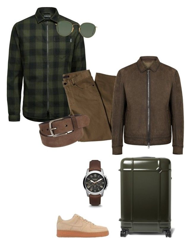 """""""Travel Style"""" by matinapapadopoulou on Polyvore featuring Jack & Jones, Lords of Harlech, BOSS Orange, NIKE, Ray-Ban, Uniqlo, men's fashion and menswear"""