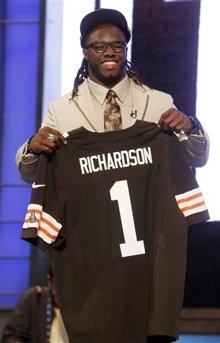Cleveland Brown's first pick, Trent Richardson