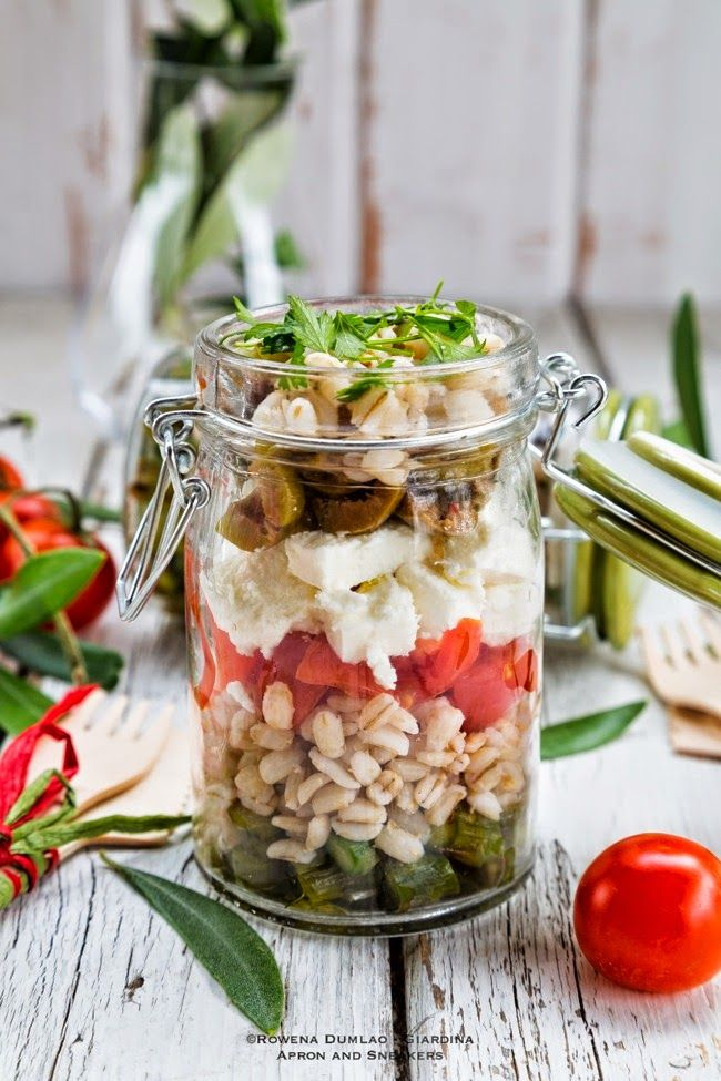 Apron and Sneakers - Cooking & Traveling in Italy and Beyond: Barley, Feta and Asparagus Salad in a Jar