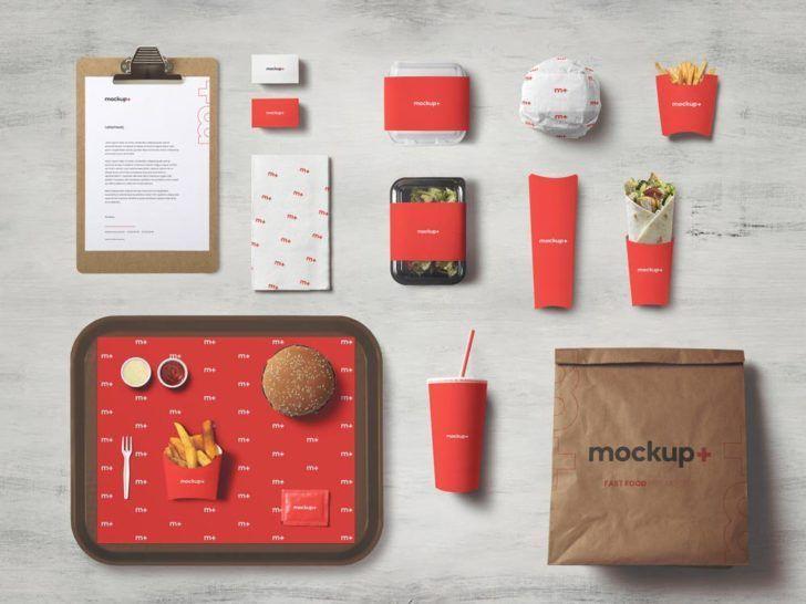 Free Fast Food Brand Identity Mockup Free Package Mockups Mockups Free Branding Mockups Mockups Psd Sign Mockups Free Fast Food Food Branding Food Mockup