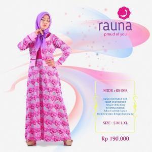 Gamis Rauna Model RK-006 Pink
