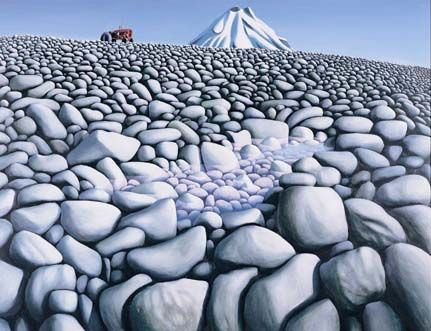 "New Zealand Art Print News: Michael Smither talks about Taranaki painting ""Rocks with Mountain"""