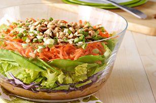 Layered Asian Salad recipe