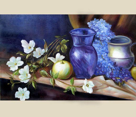 70% de descuento ORIGINAL pintura al óleo de Rapsodia en azul