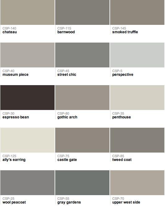Benjamin Moore - Gray paint colors