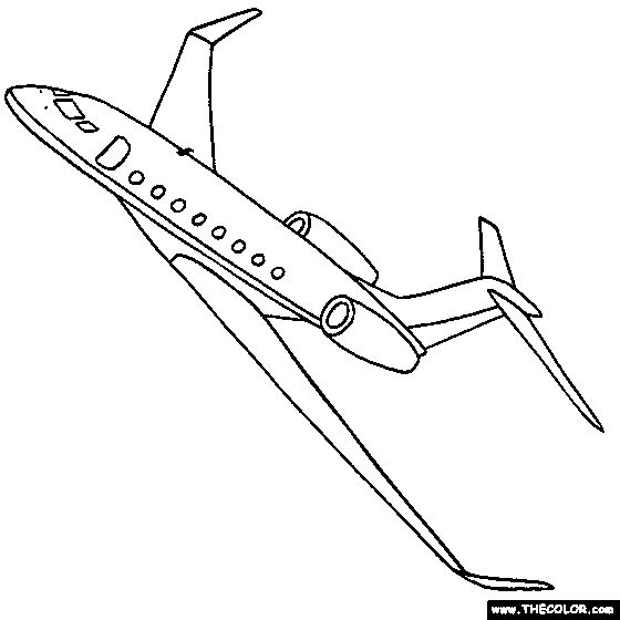 gulfstream g650 jet online coloring page