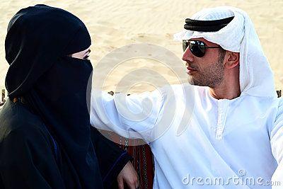 Beautiful Arab women with Hijab.