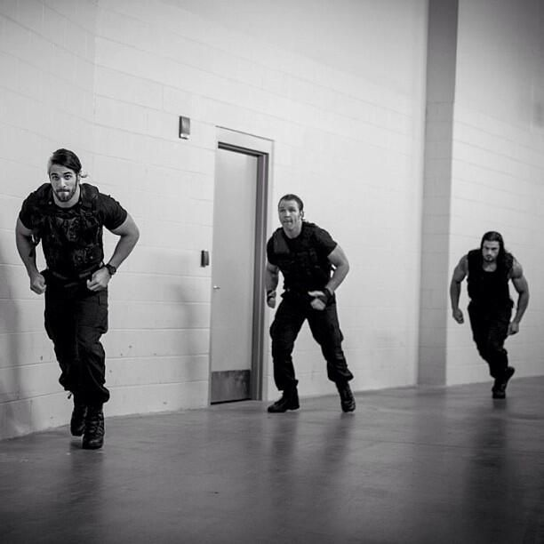 The Shield @ambermathisen89 these are the hottest guys in wrestling, even though they are all solo now