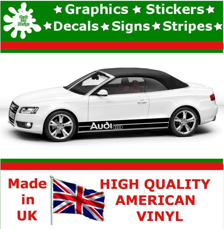 Audi Large Set Kit Car Stripes Decal Vinyl Sticker Graphics Racing - Vinyl decals for cars uk