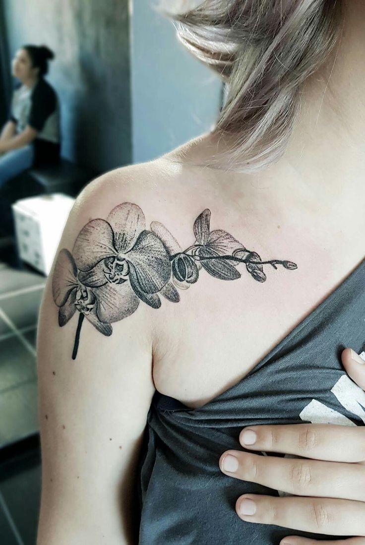 #orquidea #tattoo #tatuagem #feminina