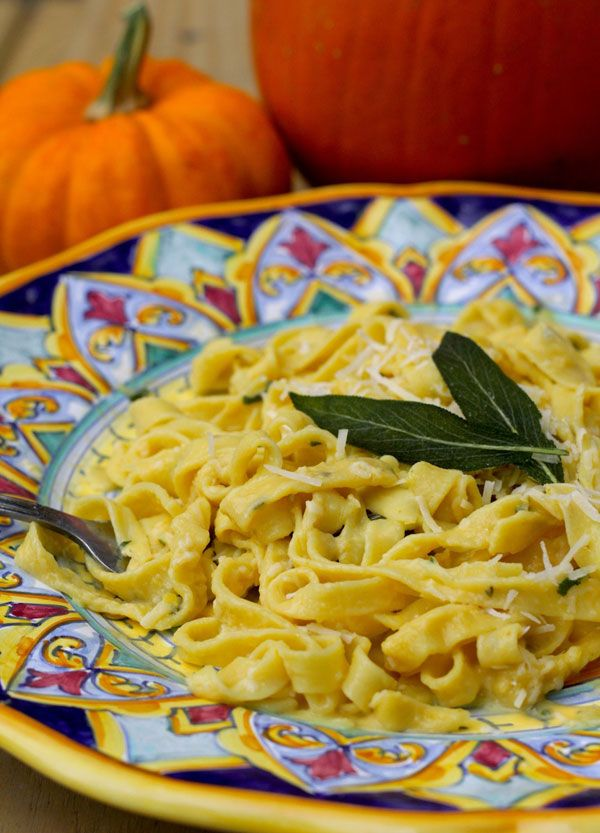 Creamy Pumpkin Sage Fettuccine recipe from PBS Food