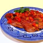 Table for Two - Pork Cube Steaks with Peppers and Tomatoes