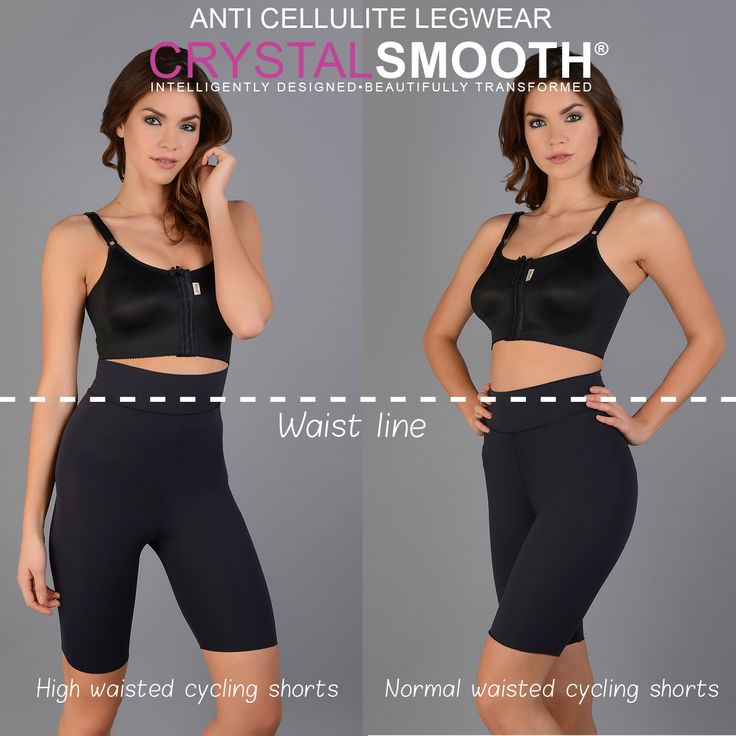 The CRYSTALSMOOTH® anti cellulite cycling shorts are a great option for the summer. They come in 2 styles, high waisted and normal waisted.  You can also wear them under your dress ;) #madebyMACOM #cyclingshorts #anticellulite #summer #beauty #beautyblogger #CRYTALSMOOTH #waistline