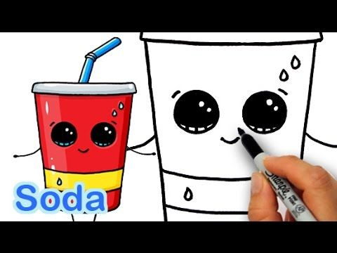 How to Draw Cute Soda Drink Step by Step