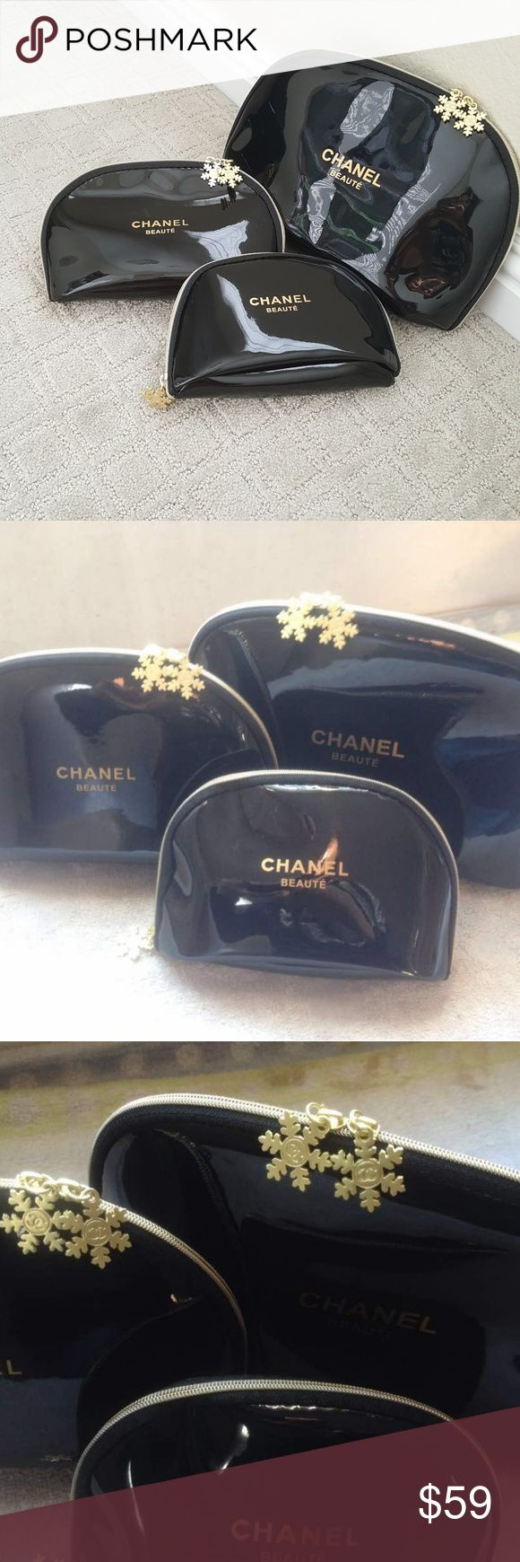 CHANEL VIP GIFT Set of 3 Cosmetic bags. Brand new in package CHANEL VIP GIFT Set of 3 Cosmetic bags get all 3 for 1 price! Bags Cosmetic Bags & Cases