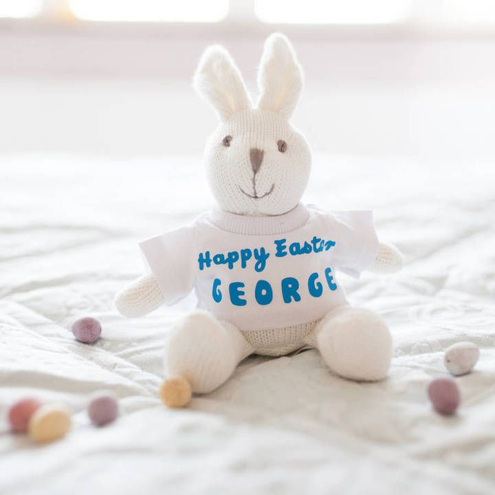 68 best images about best non chocolate easter gifts for children rosie willett designs personalised knitted easter bunny rattle toy negle Images