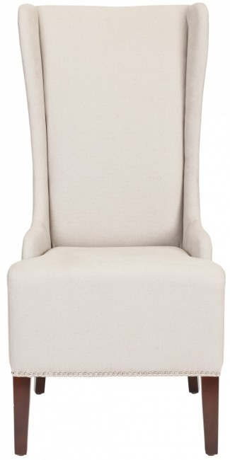 """Use the coupon code """"pinning"""" to save 10% off any item(s) on our online store. Safavieh Home Furnishings - Bacall Chair- Taupe, $390.00 (http://www.safaviehhome.com/casual-dining-cabinets-bacall-chair-taupe/mcr4501f)"""