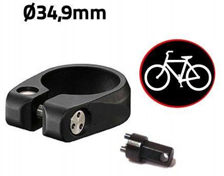 Antivol vélo pour selle de vélo - Collier de selle diamètre 34,9mm - Anti-Vandale pour bicyclette