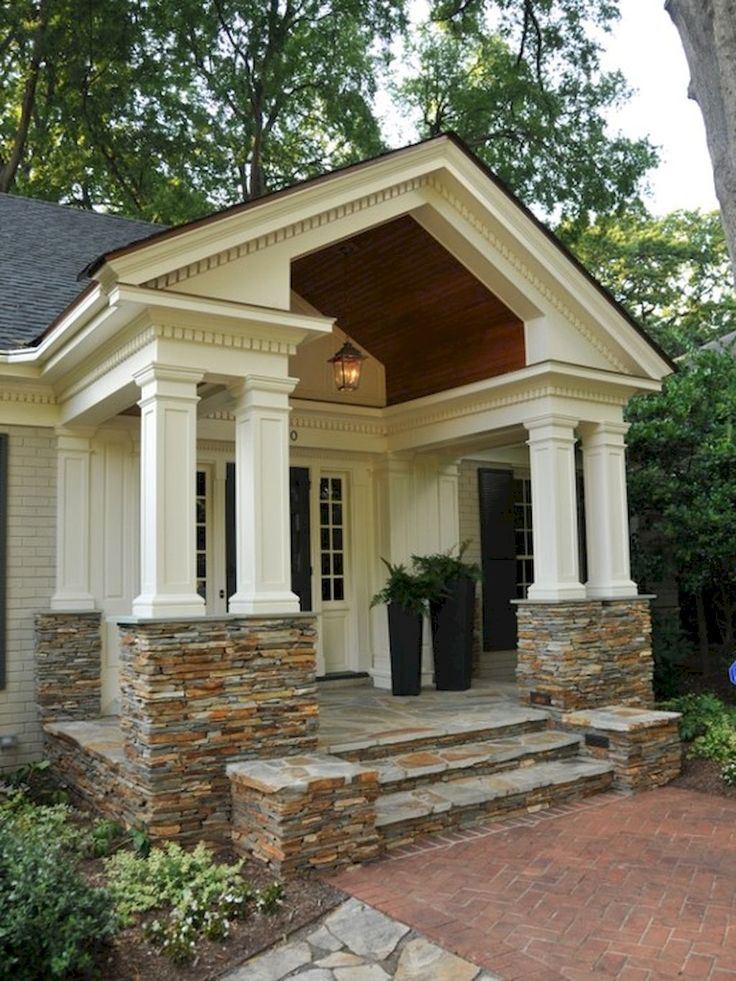The 25 Best Stone Columns Ideas On Pinterest Stone Front