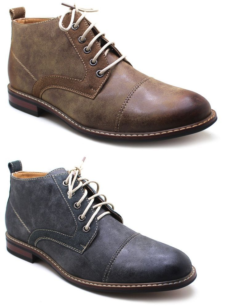 Ferro Aldo Mens Ankle Boots Lace Up Leather Lined Dress / Casual Shoes  #FerroAldo #AnkleBoots