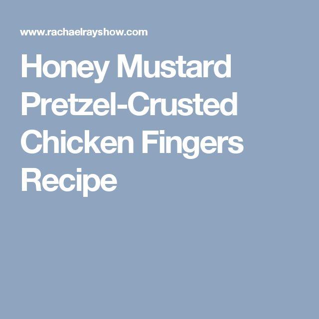 Honey Mustard Pretzel-Crusted Chicken Fingers Recipe
