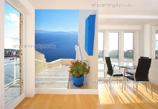 14 best images about photomurales on pinterest santorini for El paradiso wall mural