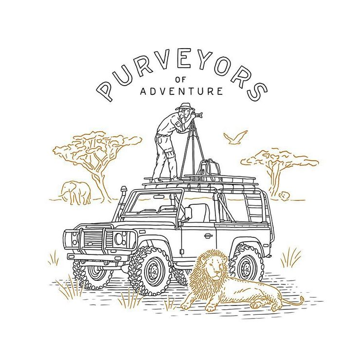 One more car and travel story for @bexargoods   #handdrawn #handlettering #defender90 #landrover   logo logotype identity anton gorbunov askmetolie lettering art ullustration lion safari