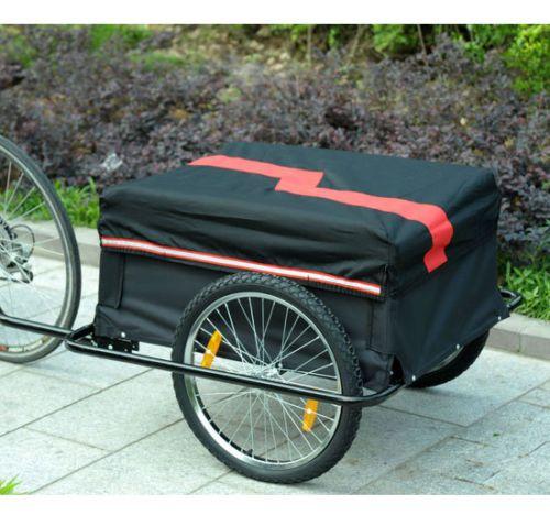 Homcom-Transportanhaenger-Fahrradanhaenger-Lastenanhaenger-Fahrrad-Anhaenger-Schwarz