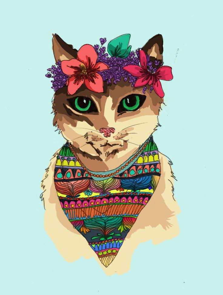 Gatito. Kitty. Si te interesa la ilustración podes escribirme a sol.dlvega@gmail.com. If you like the illustration, please send me an email sol.dlvega@gmail.com