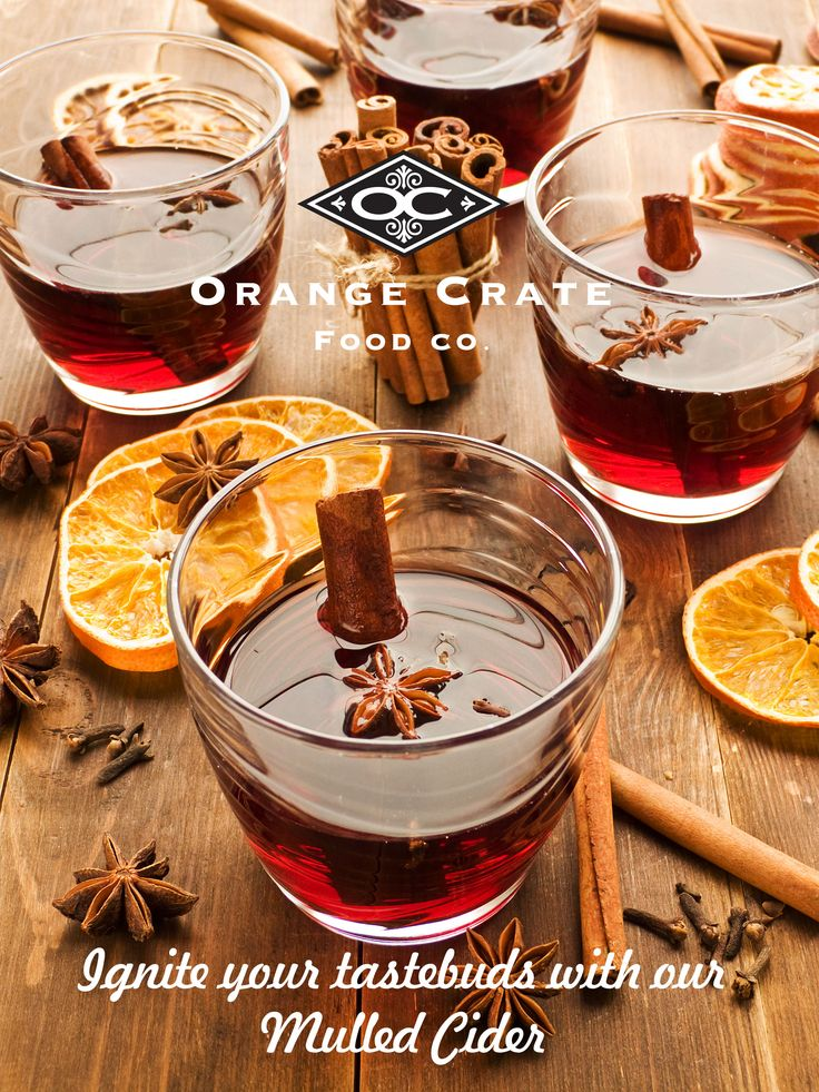 Mulled Cider - keep yourself cozy www.orange-crate.com