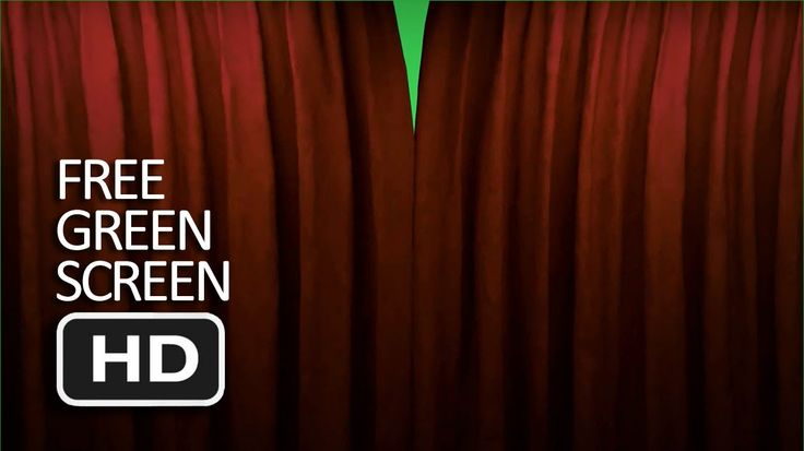 Free Green Screen   Close and Open Curtain (Transition)