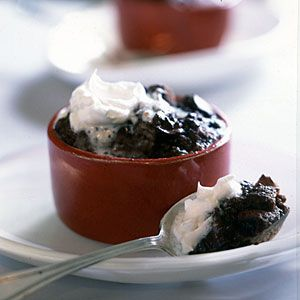 Serves 2: Chocolate Chunk Bread Puddings | CookingLight.com