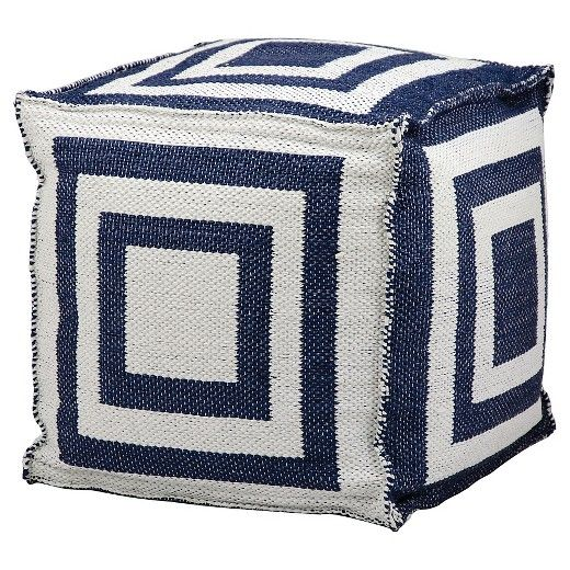 Give yourself flexibility in your seating options. The Simple Stripe Indoor/Outdoor Decorative Pouf works as a foot rest or an extra chair. No matter how you use it, the striking geometric pattern in alternating contrast colors will be a fun way to accent the decor in any room of your home.