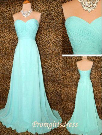 Long Prom Dresses Strapless Prom Dresses by Promgirlsdress on Etsy, $109.00
