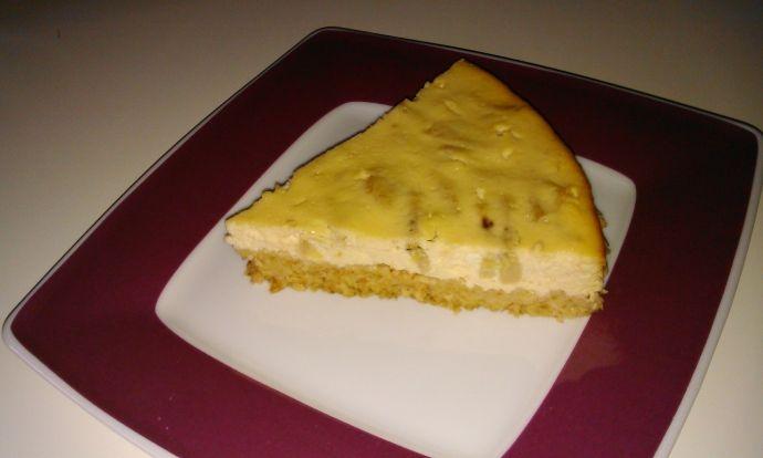 Zdravý tvarohový koláč s banánem