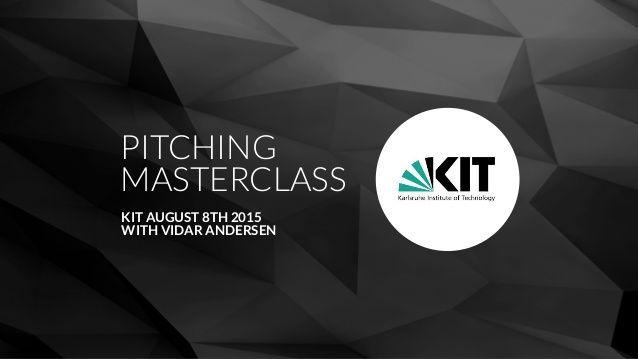 Pitching Masterclass Kit by VIDAR ANDERSEN