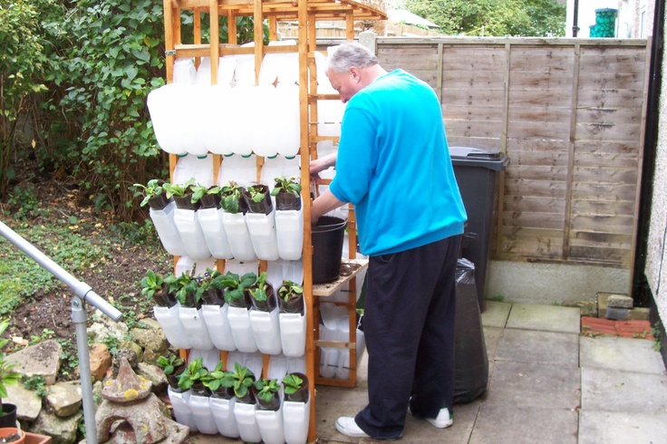 garden recycling ideas   Wheelchair Gardening (11) - JRP Recycling Plastic Containers