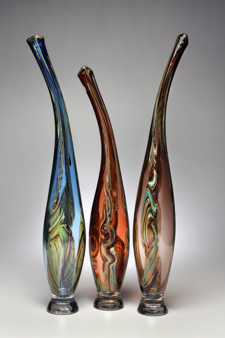 Smoky Mountain Breeze I Victor Chiarizia Art Glass Sculpture