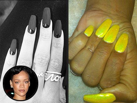 Are Pointy Stiletto Nails On Their Way Out & Long Square Nails In? (Rihanna's Digits Say So!) | StyleBlazer