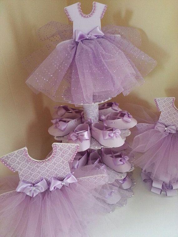 Tres niveles lavanda bailarina zapato Favor por TheCarriageShoppe