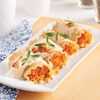 Cannellonis à la courge et aux noix de pin grillées - Recettes - Cuisine et nutrition - Pratico Pratiques