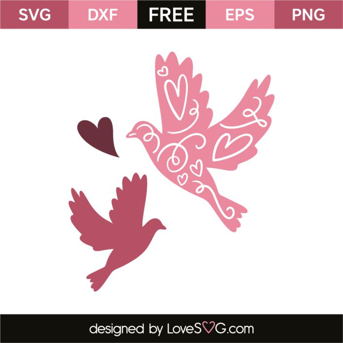 *** FREE SVG CUT FILE for Cricut, Silhouette and more *** Love birds
