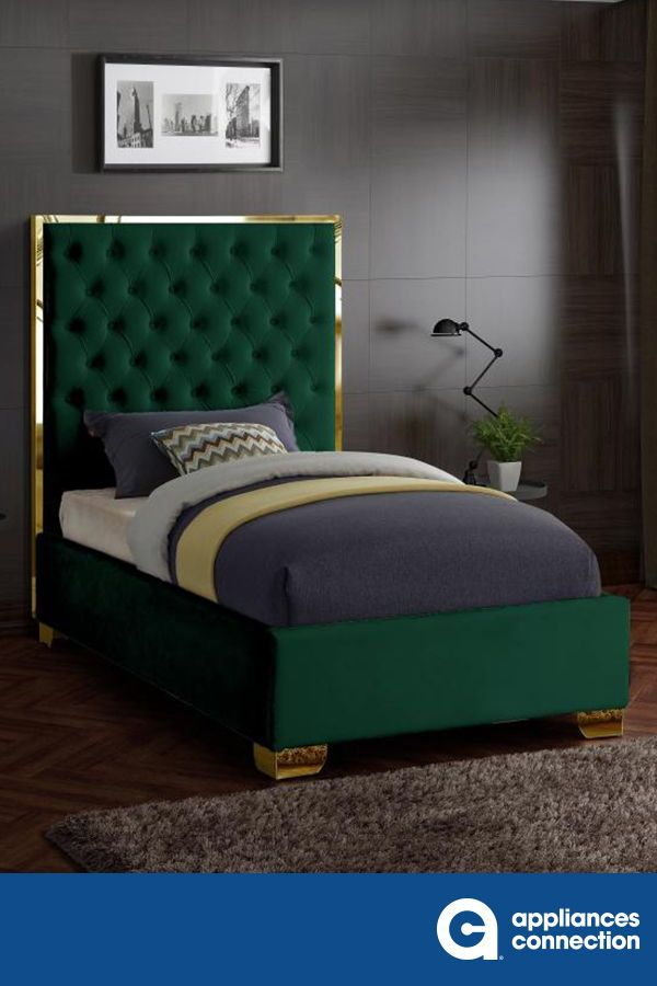 Make The Lana Velvet Bed Part Of Your Dream Bedroom Setup This Bed Has All Of The Bells And Whistles You Wan Bedroom Setup Bedroom Inspirations Bedroom Design