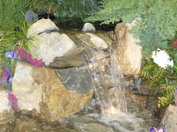 A Pondless Waterfalls From The 2008 NJ Flower And Garden Show. Designed And  Built By
