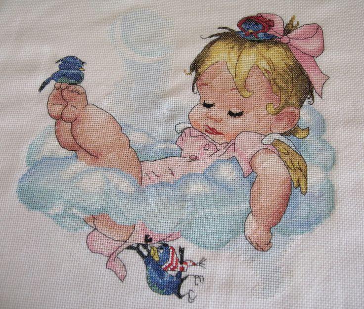 Gallery.ru / Сладкий сон ангела ( девочка) - Сладкий сон ангела ( завершен) - Vorozheya