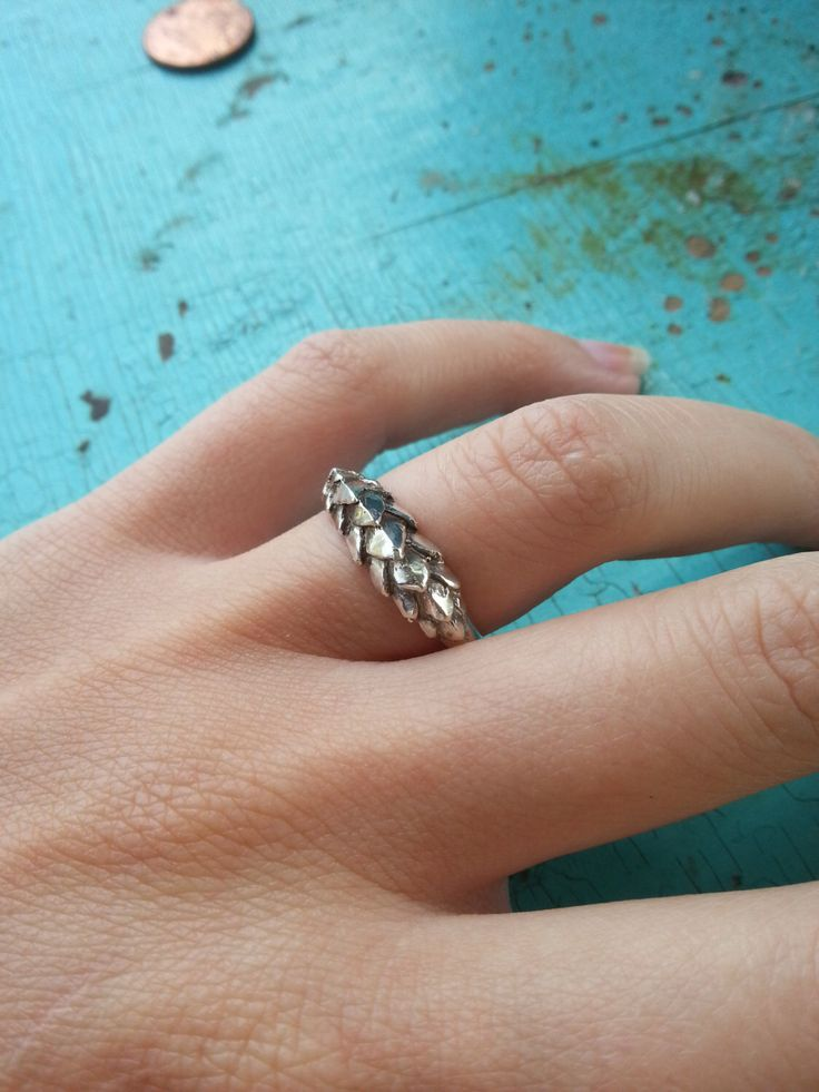 Dragon Scales Ring in Sterling Silver, handmade jewelry, silver dragon ring, game of thrones ring, bearded dragon ring, silver armor ring by XanneFran on Etsy https://www.etsy.com/listing/207193727/dragon-scales-ring-in-sterling-silver