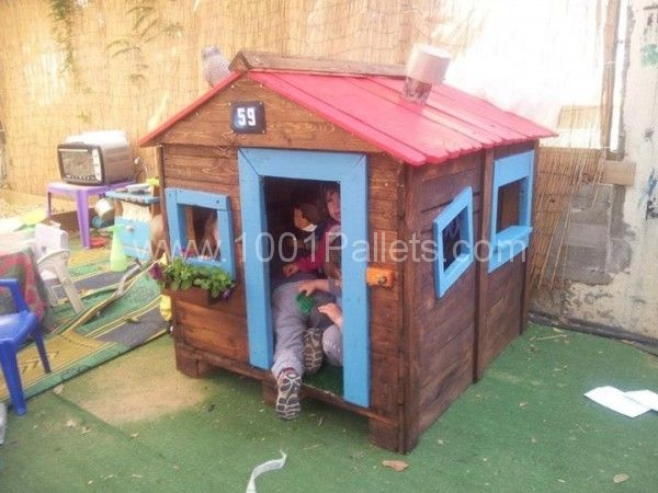 Tutorial to make a kids hut from pallets