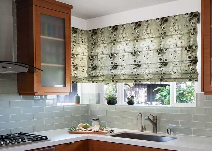 122 best images about fabric shades on pinterest window for Fabric shades for kitchen windows