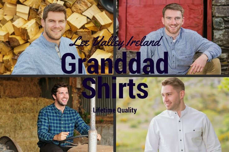 Our traditional Irish Flannel granddadshirts by Lee Valley Ireland. #leevalleyireland #granddadshirt #grandadshirt #grandfathershirt