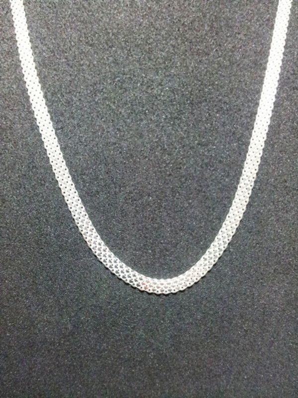Corrente prata 925 modelo bismark. Comprimento: 45 cm. Largura: 5,9 mm